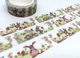 Rabbit tape 10M cute bunny washi tape farm animal deco tape sticker cartoon rabbit forest animal mushroom tape scrapbook planner gift 2017