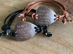 Custom guitar pick bracelets
