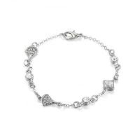 Enchanted Shell Shaped Diamante Bracelet - Silver