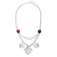 Pearl Shell Necklace - Silver