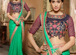 Latest Indian Sarees Online   Simple Saree Blouse Designs & New Party Wear Sarees Designs Collection