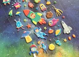 astronaut outer space sticker robot spaceship alien toy sticker space travel planet sticker UFO space shuttle kids sticker little boy gift