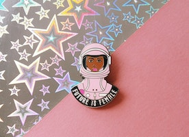 Future is Female Pin - Civil Rights Movement Pin - Feminism - Female Empowerment - Woman's March Pin - Future is Female