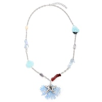 Starfish Sea Necklace - Silver/Blue