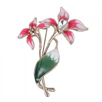 Two Flower Brooch - Rose Gold