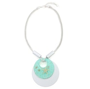 Starfish Circle Necklace - Turquoise