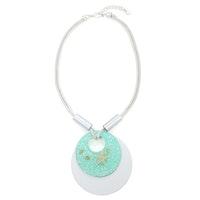 Starfish Circle Necklace - Turquoise