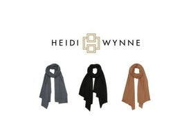 Love my new Heidi Wynne cashmere scarf! So soft!
