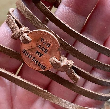 custom penny wrap bracelet