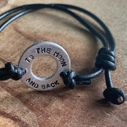 Custom washer bracelet
