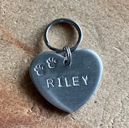 Heart shaped ID tag