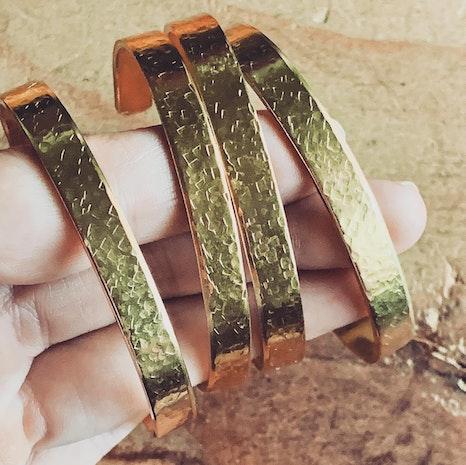 Custom brass, silver or copper cuffs