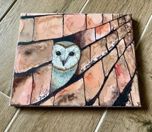 Don't be another brick in the wall Owl canvas