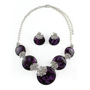 Circles Necklace Set - Purple