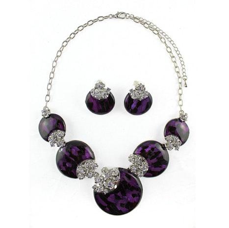 Circles Necklace Set - Purple