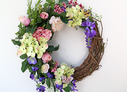 Handmade Spring Wreath for Mother's Day