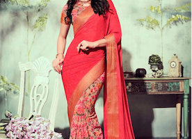 Superb Red Saree in New Fashion