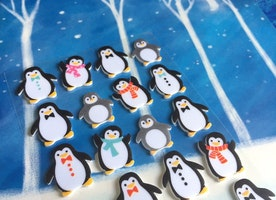 Penguin sticker Emperor Penguin baby penguin Arctic animal 3D sticker kawaii animal cute animal Antarctica Wildlife EVA sticker