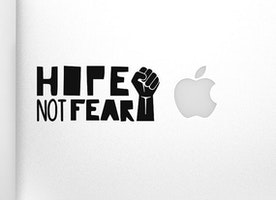 Hope Not Fear - Vinyl Sticker