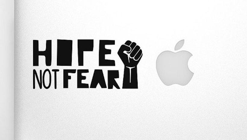 Hope Not Fear - Vinyl Sticker
