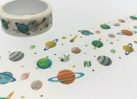 Outer space masking tape 3M Planet SOLAR System washi tape outer space sticker tape universe diary planner scrapbook gift