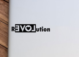 rEVOLution -Vinyl Sticker - Car decal - Laptop decal