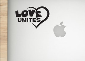 Love UNITES -Vinyl Sticker - Car decal - Laptop decal