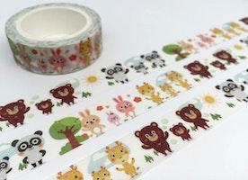 animal washi tape 10M rabbit panda bear giraffe cute animal deco masking tape baby animal kawaii animal sticker tape scrapbook diary gift