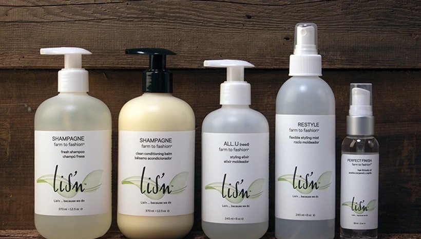 Lis'n professional hair care with Farm to Fashion™ ingredients