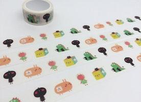cartoon characters tape 3M Cute cartoon Cat rabbit animal washi tape funny cartoon sticker tape pet kids planner pet diary scrapbook gift