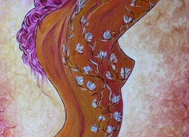 Flowers and Paint by Gioia Albano artist
