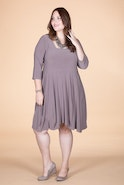SWING OUT SISTER DRESS - TAUPE