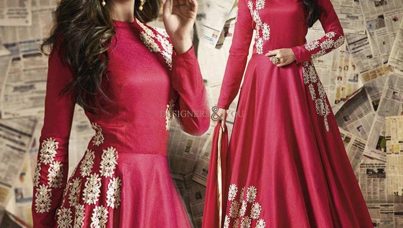 Women's Party Wear Gown Dresses: Long Floor Length Anarkali Salwar Kameez Suits Collection Online UK