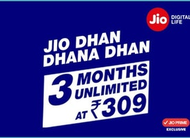 Latest Reliance Jio Dhan Dhana Dhan Offer, Full Detail Of Rs.309 Plan