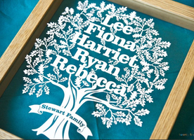 Family Tree Frame. Upcycling the Artistic Way