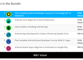 "LEARN AND DEVELOP AN ANDROID APP WITH ""PAY WHAT YOU WANT"" BUNDLE"