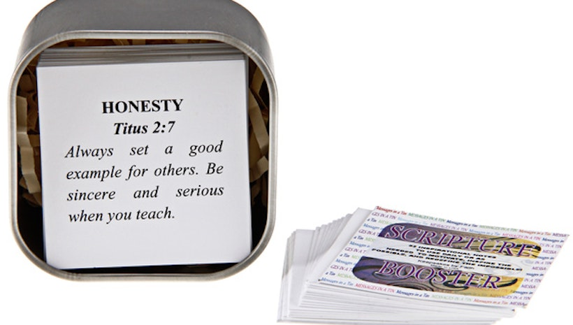 Inspirational MESSAGES IN A TIN -  Scripture Booster