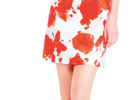 Lovely Dress From Les Copains Blue White & Coral Printed Dress (Good Sale)