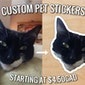 Custom Pet Stickers | Custom Cat, Dog, Rodent, Reptile, Horse | Pet Portrait, Paper Stickers, Scrapbooking, Animal Stickers, Pet Stickers