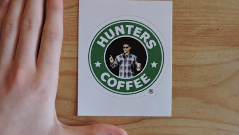 "Supernatural ""Hunters Coffee"" Sticker"