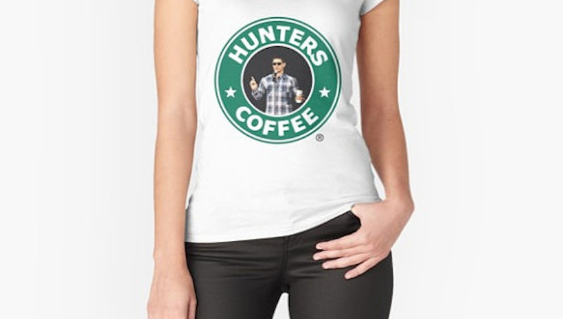 "Supernatural: ""Hunters Coffee"" Fitted T-Shirt"