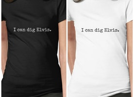 "Supernatural: Destiel Twist and Shout ""I can dig Elvis"" t-shirt"
