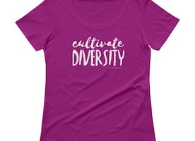 Cultivate Diversity womens graphic tee