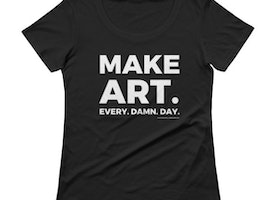MAKE ART womens graphic tee