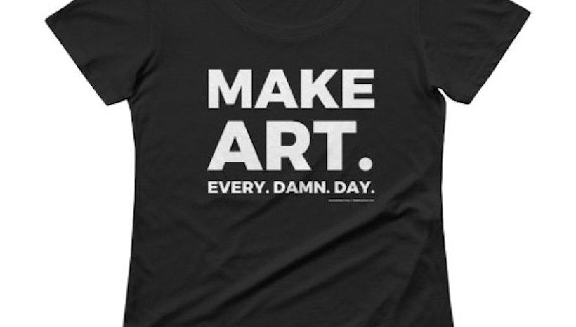 MAKE ART womens graphic tee