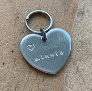 Heart shaped small pet ID tag