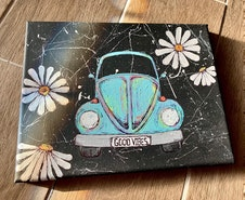 Good Vibes VW inspired canvas