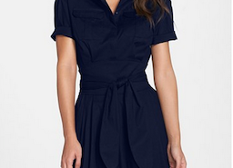 Beautiful 'Maya' Tie Waist Fit & Flare Shirtdress From Cynthia Steffe
