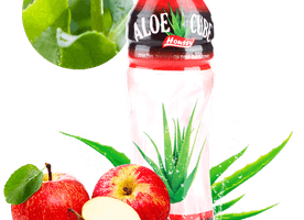 Artificial 360ml houssy apple aloe cube drink