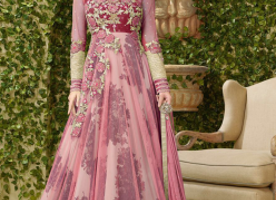 Pink Anarkali Stylish Suit